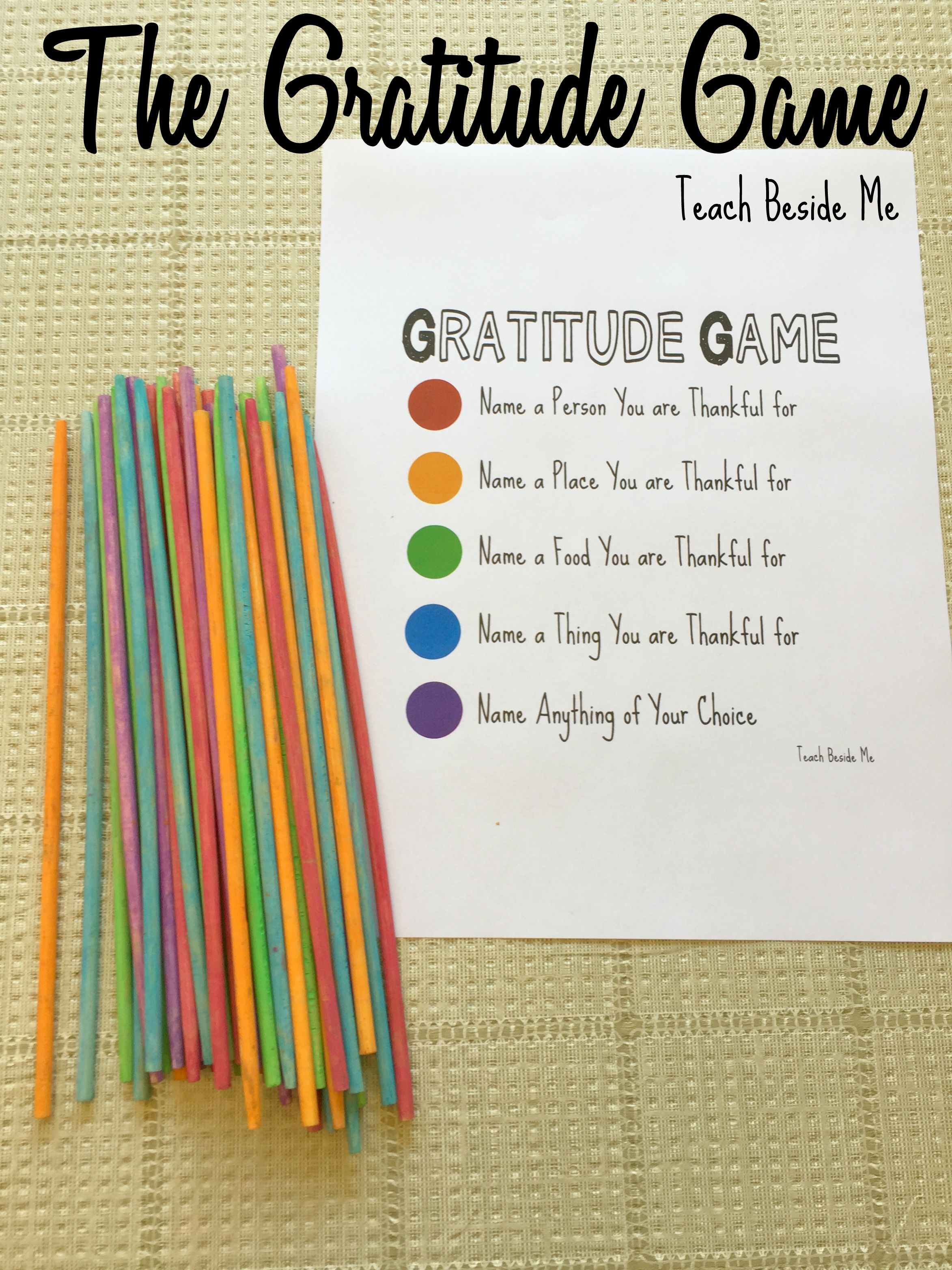 The Gratitude Game Pick Up Sticks With Images