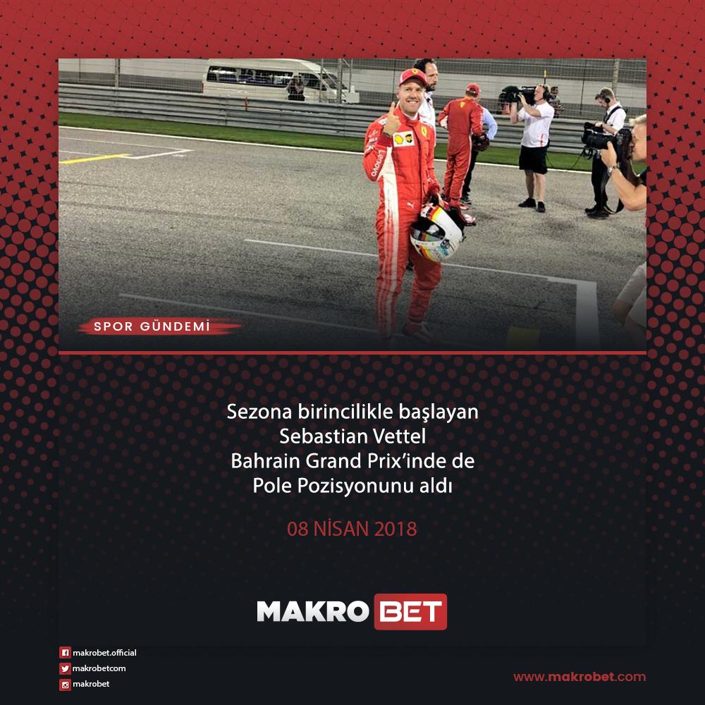 Formula1'de Ferrari'nin Alman pilotu Vettel, Bahreyn