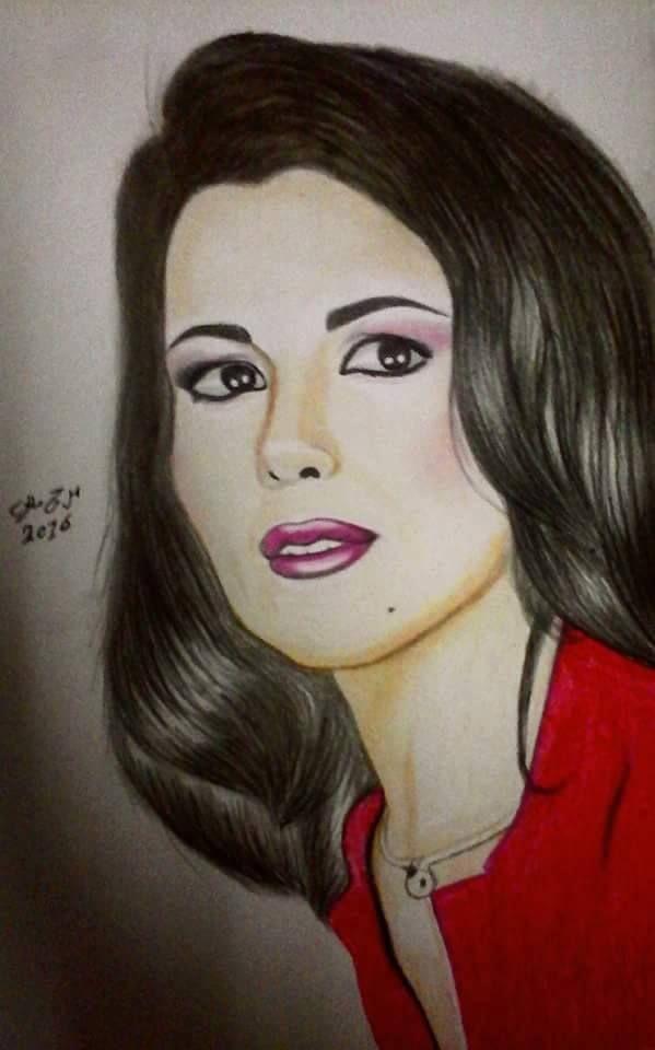 رسم ماجدة الرومي مرح مللي Female Sketch Farah Disney Princess