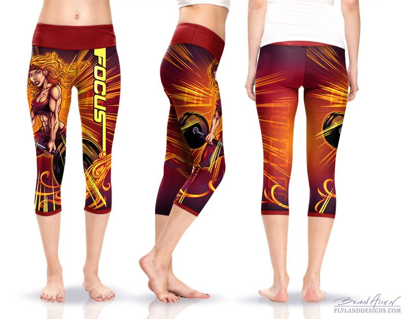 Crossfit Comic Book Yoga Pants | T-Shirt Designs | Pinterest ...