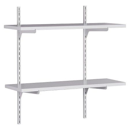 Exceptional ClosetMaid Wall Mounted Adjustable 2 Shelf Shelving Unit   White