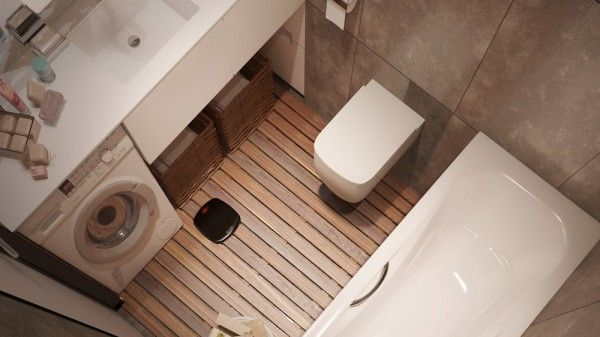6 Beautiful Home Designs Under 30 Square Meters With Floor Plans Mold In Bathroom Small Apartment Design Bathroom Tile Designs
