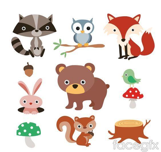9 Forest Cartoon Animals Vector Forest Cartoon Cartoon Animals Forest Animals