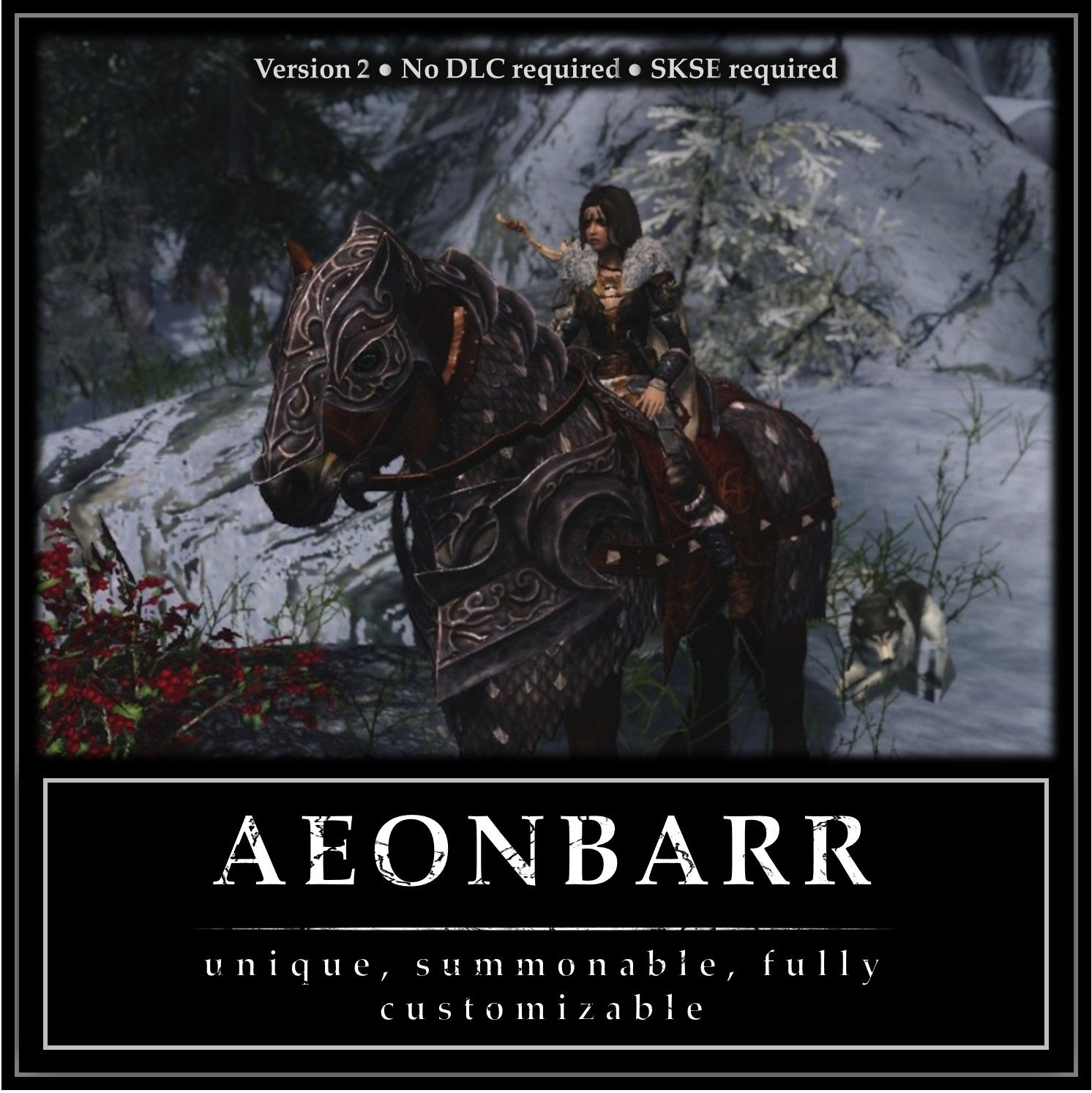 Aeonbarr - a Unique and Summonable Horse (CH-Friendly) at Skyrim