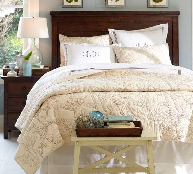 great neutral bedroom gray walls dark wood furniture beige and rh pinterest at