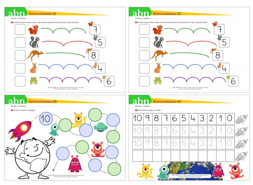 Recopilación de material ABN para INFANTIL: juegos, fichas