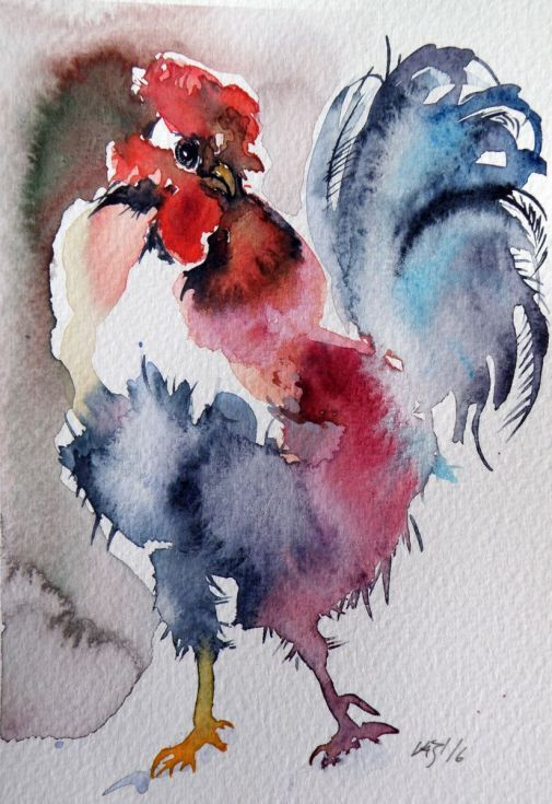 Buy Rooster, Watercolour by Kovács Anna Brigitta on Artfinder. Discover thousands of other original paintings, prints, sculptures and photography from independent artists.