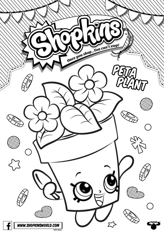 Made by A Princess: Shopkins Free Downloads | Colouring in | Pinterest