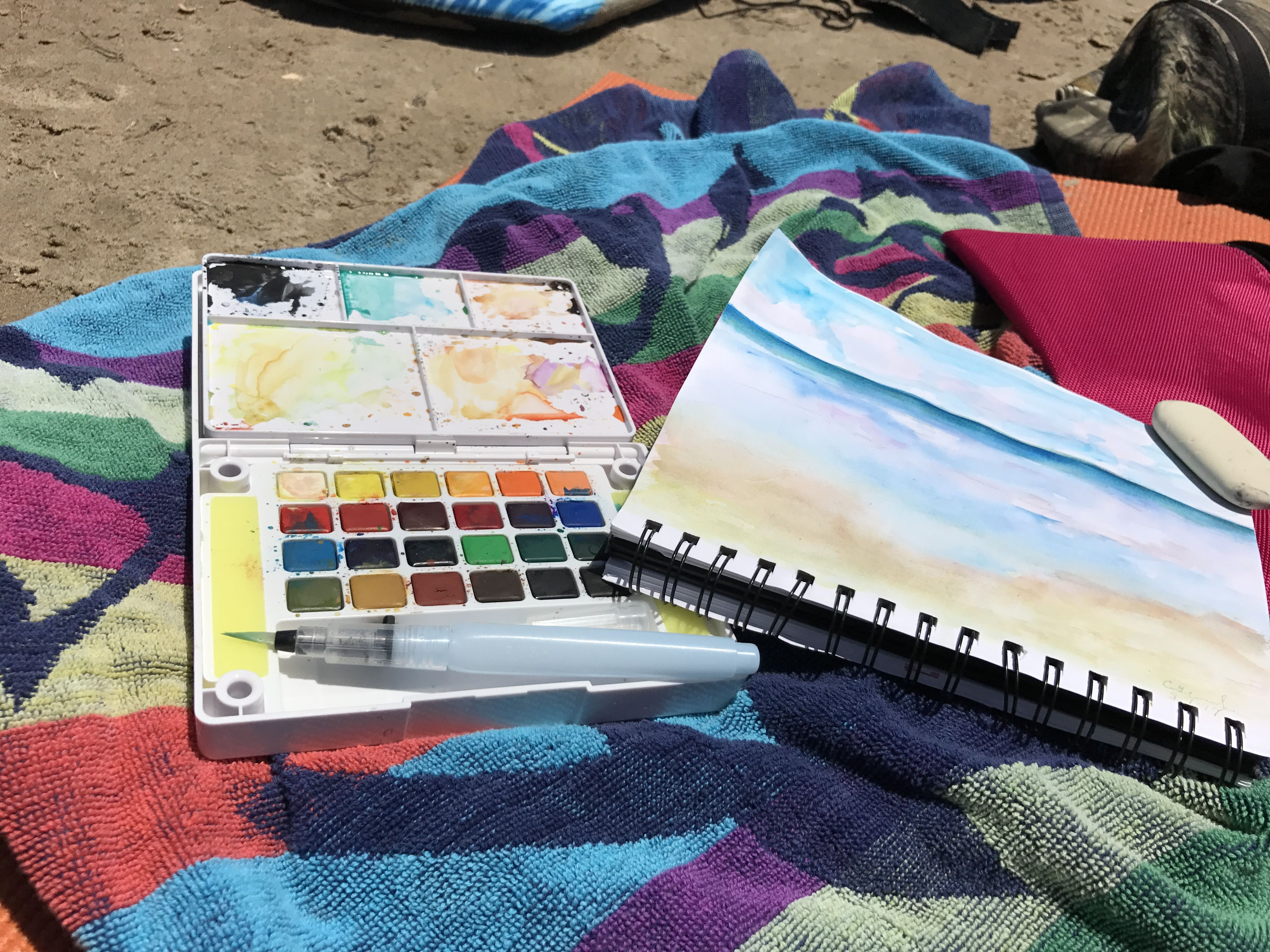 Sketching And Painting At The Beach South Padre Island Texas