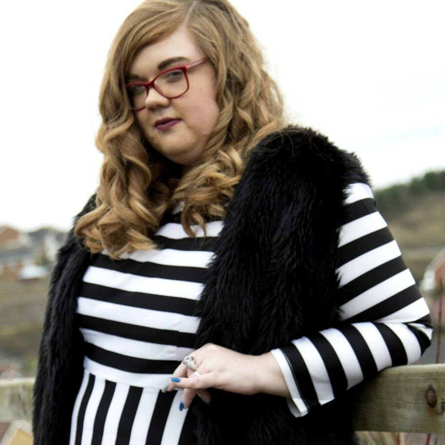 Our beautiful signature Black and white striped dress with pockets!