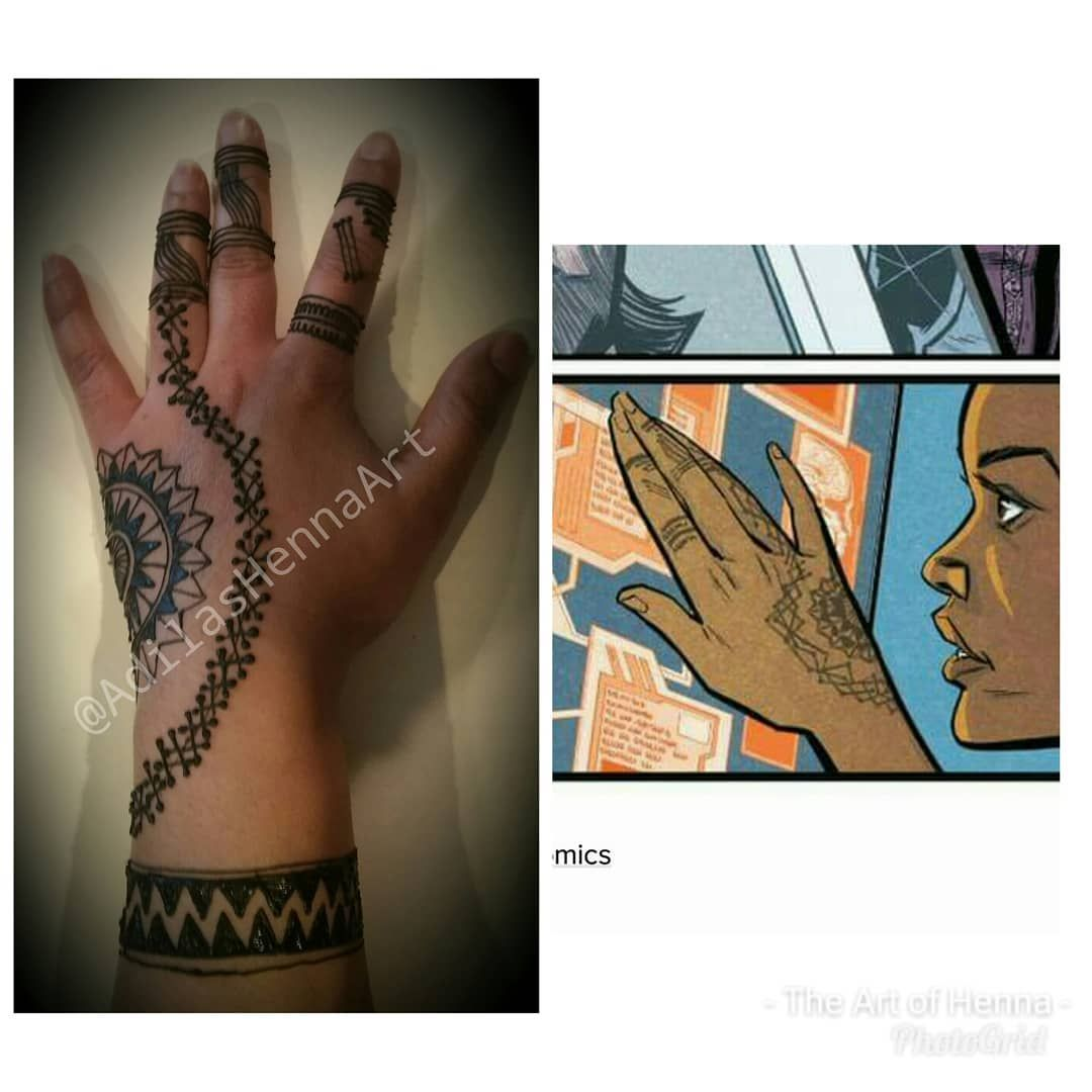 Henna Design Inspired By Shuri In The New Hit Movie Black Panther