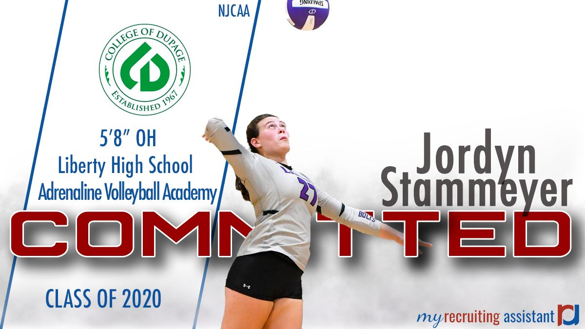 Class Of 2020 Oh Jordan Stammeyer Heading To The College Of Dupage College Of Dupage Class Of 2020 Recruitment