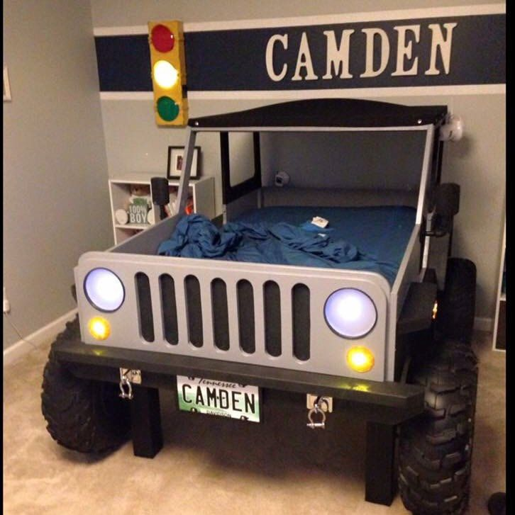 Jeep Bed Plans Twin Size Car Bed Etsy Jeep Bed Car Bed Kid Beds