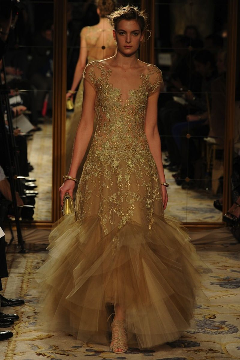 Marchesa gold beaded gown | Clothes Horse | Pinterest | Marchesa ...