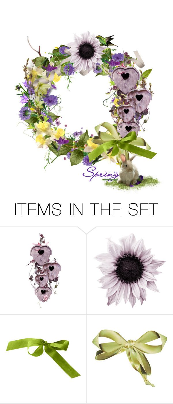 """""""Springtime"""" by likepolyfashion ❤ liked on Polyvore featuring art, Spring, Flowers and artset"""