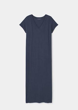 Длинное платье с разрезом | VIOLETA BY MANGO ВИОЛЕТТА БАЙ МАНГО