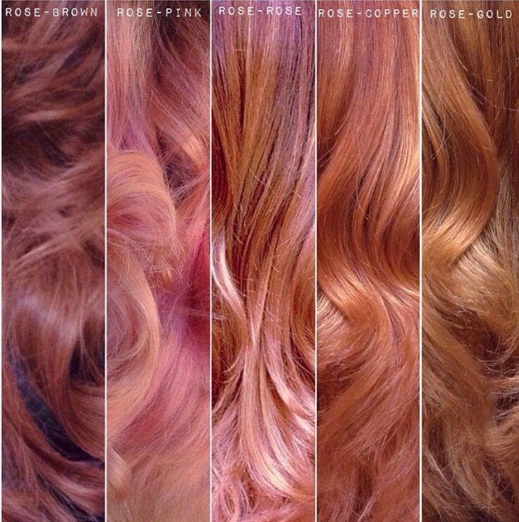 Rose Gold Types Hair Color Rose Gold Hair Styles Rose Hair