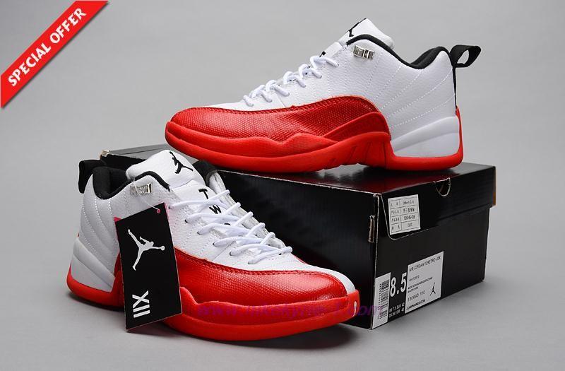 Mens AIR JORDAN 12 RETRO LOW Red White Outlet Stores  4fe5bdc78
