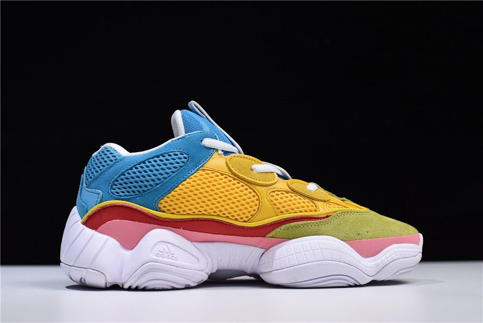 f7c7ac32df4 adidas Yeezy 500 Yellow Sky Blue Pink White Green in 2019
