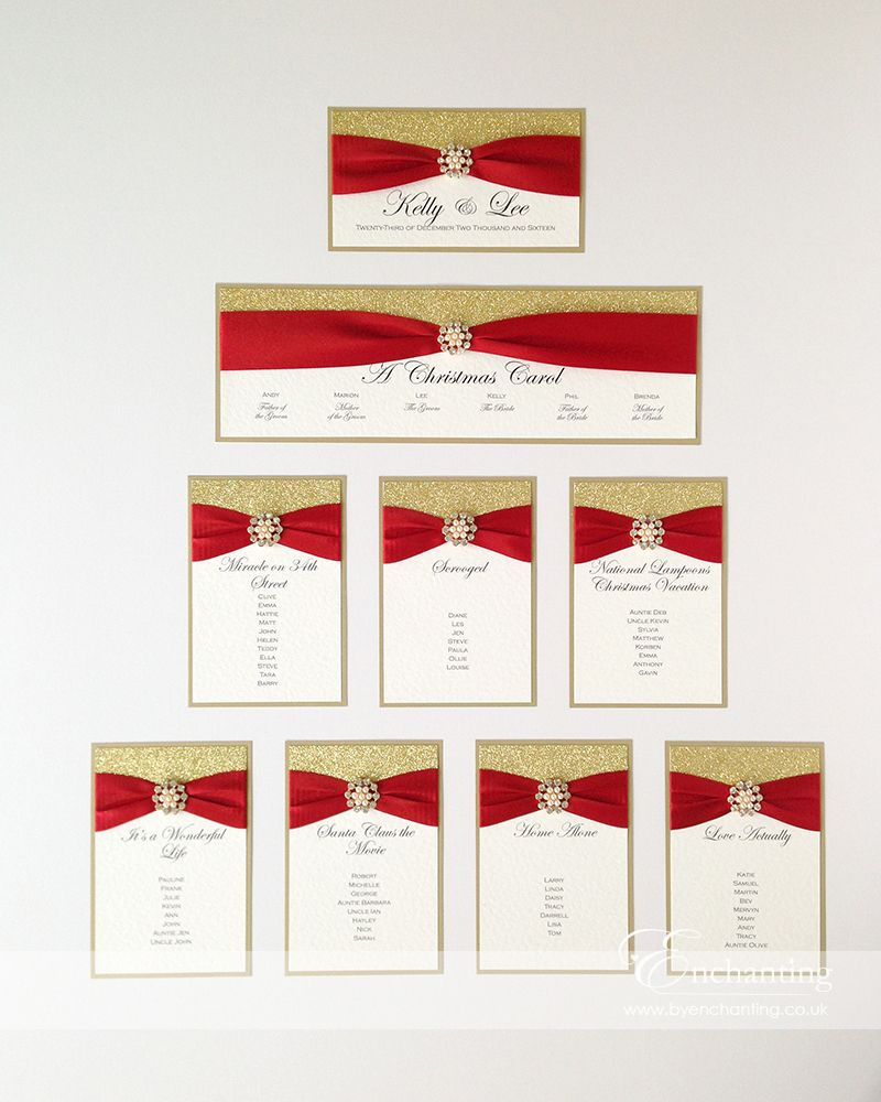 Red and Gold Wedding Stationery   The Cinderella Collection - DIY ...