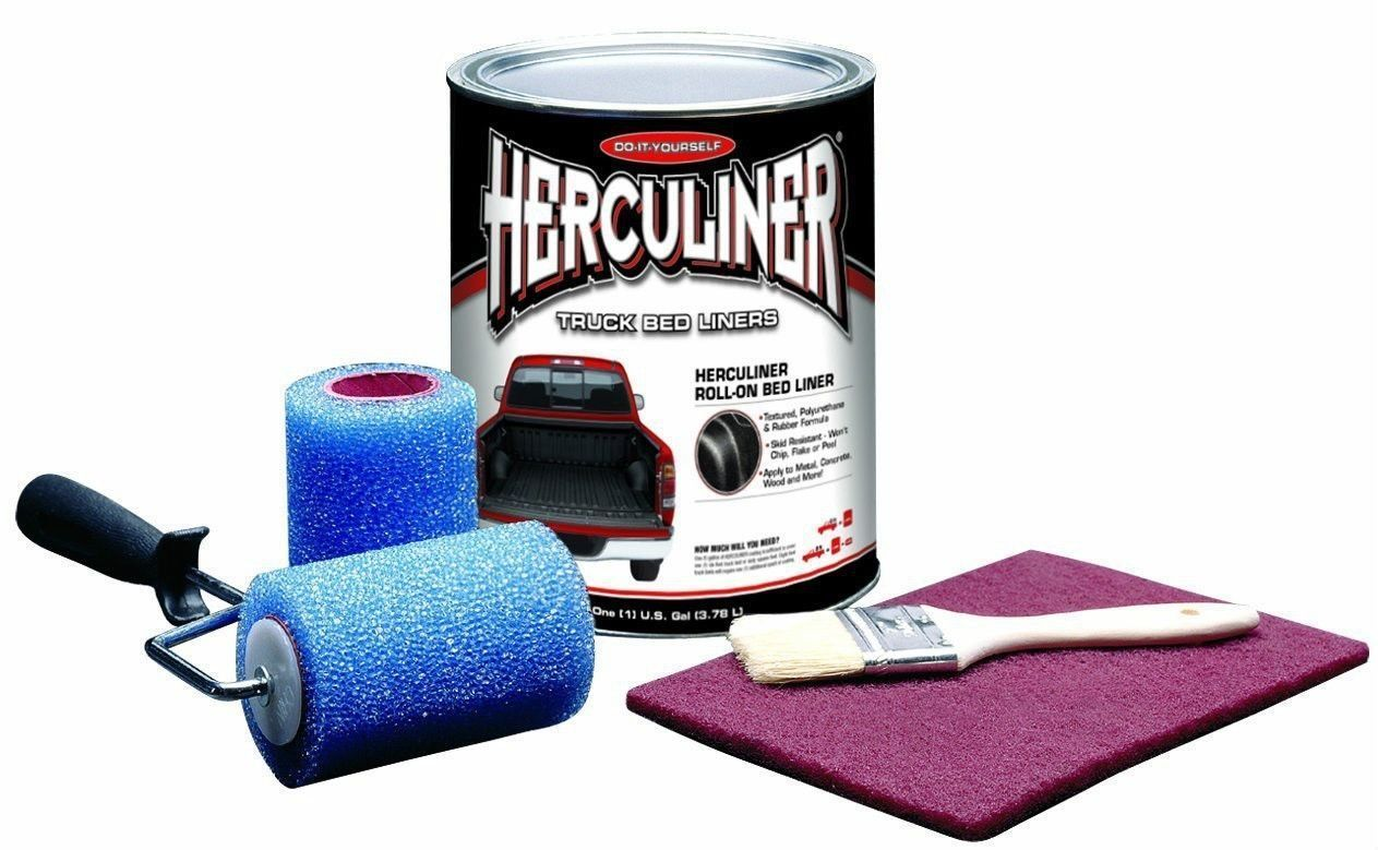 Details About Herculiner Diy Truck Bed Liner Roll On Kit Hcl0b8