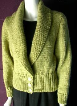 Easy Knitting Patterns - Shawl Collar Cardigan Sweater Knitting
