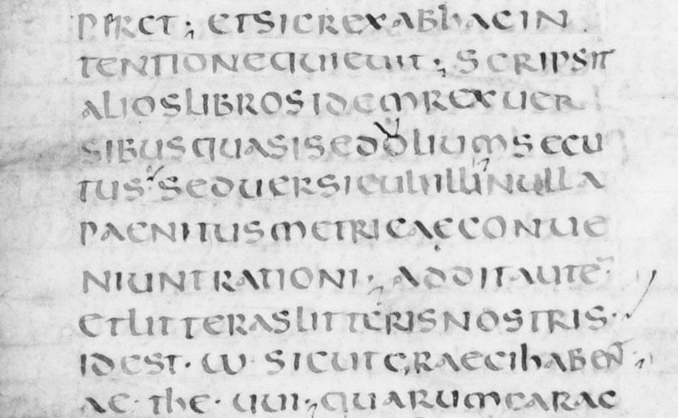Uncial latter half of 7th century AD