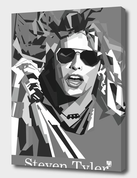Discover «Steven Tyler», Limited Edition Canvas Print by Nur Kholis - From $69 -…   Displate thumbnail