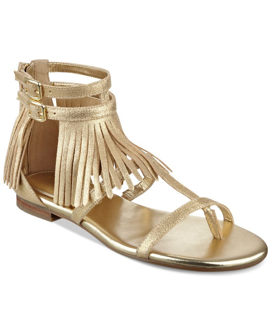 Marc Fisher Laryn Fringe Gladiator Sandals