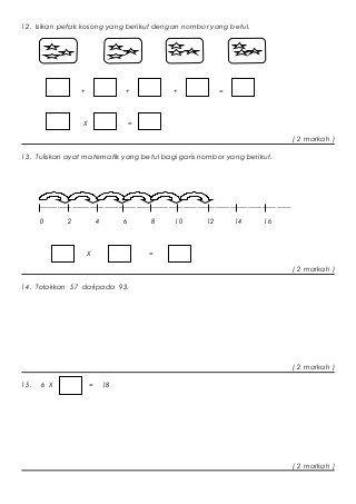 Peperiksaan Pertengahan Tahun Matematik Tahun 2 Kertas 2 In 2020 Math Activities Preschool Math Math Activities