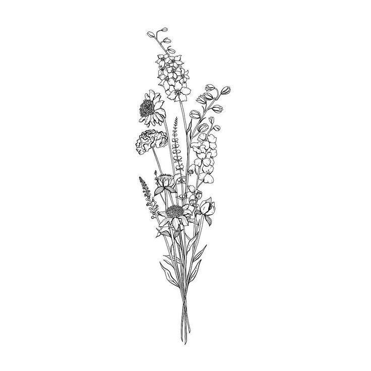 "Alice on Instagram: ""▫️Floral Arrangement ▫️ . A tight and thin bunch … #flowertattoos – Flower Tattoo Designs"