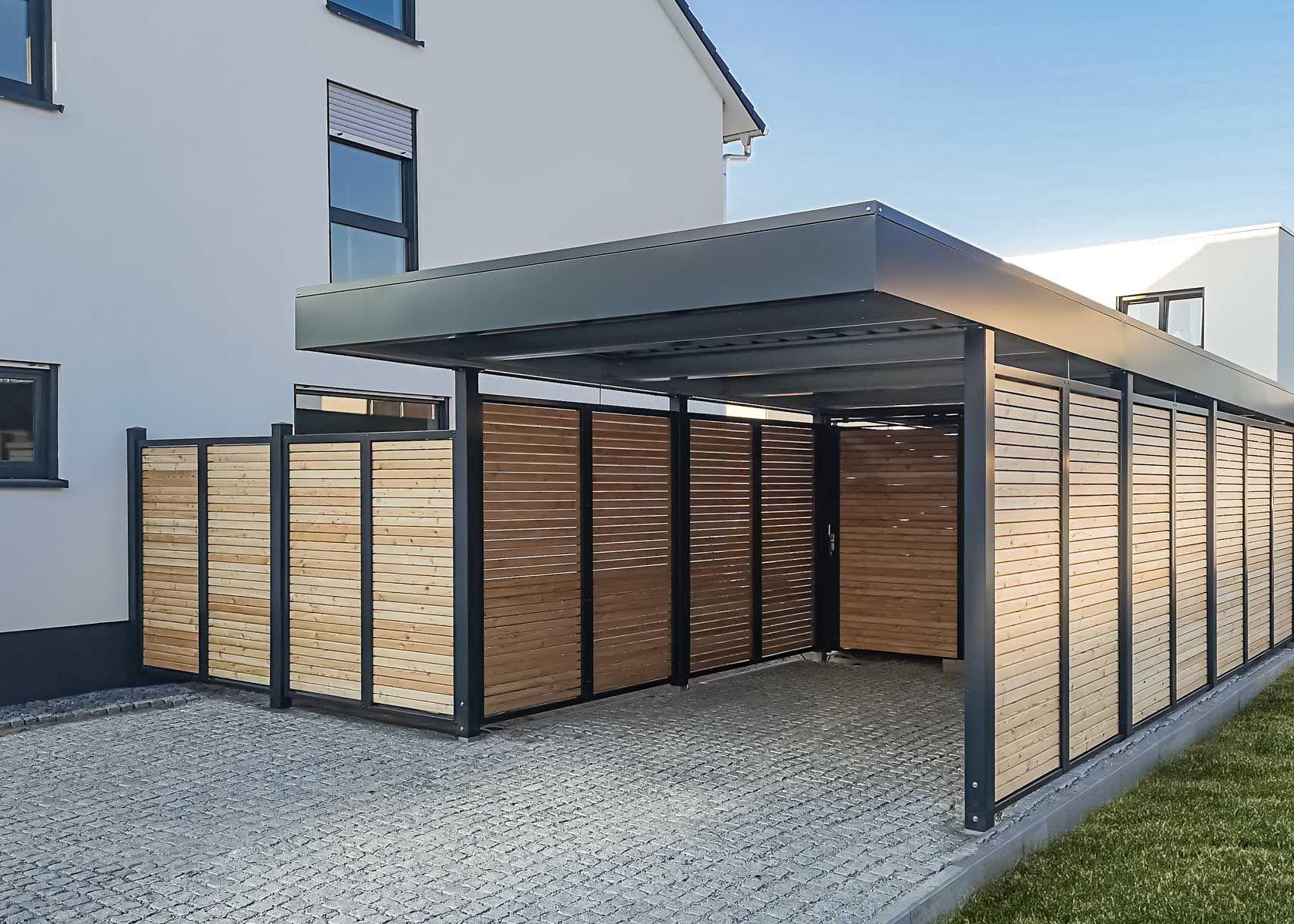 Carport Mit Sichtschutz In 2020 Carport Carport Modern Eingang Uberdachung