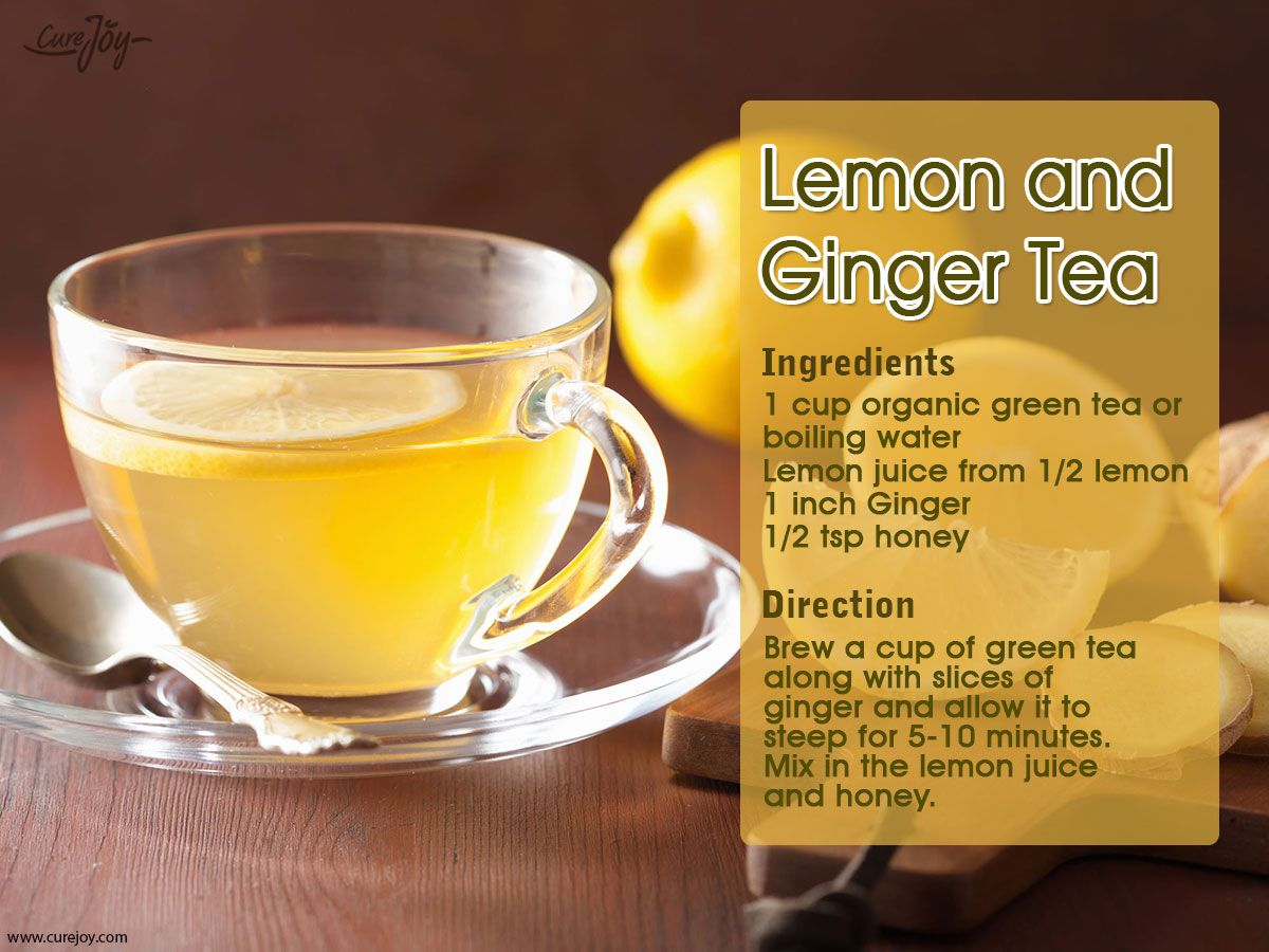 lemon and ginger tea: morning detox tea recipes