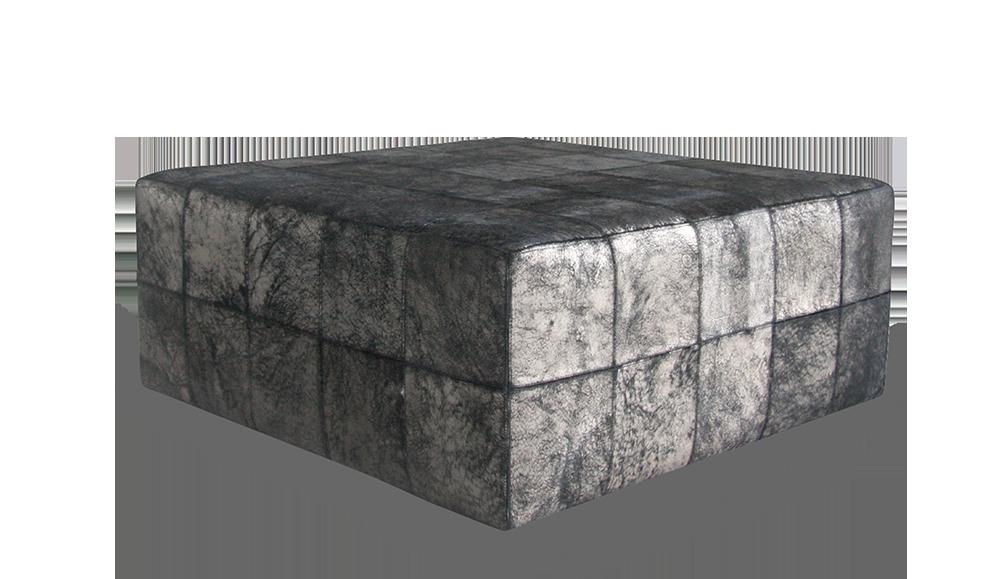 Squares Large Black Platinum Cravt Original Craftsmanship