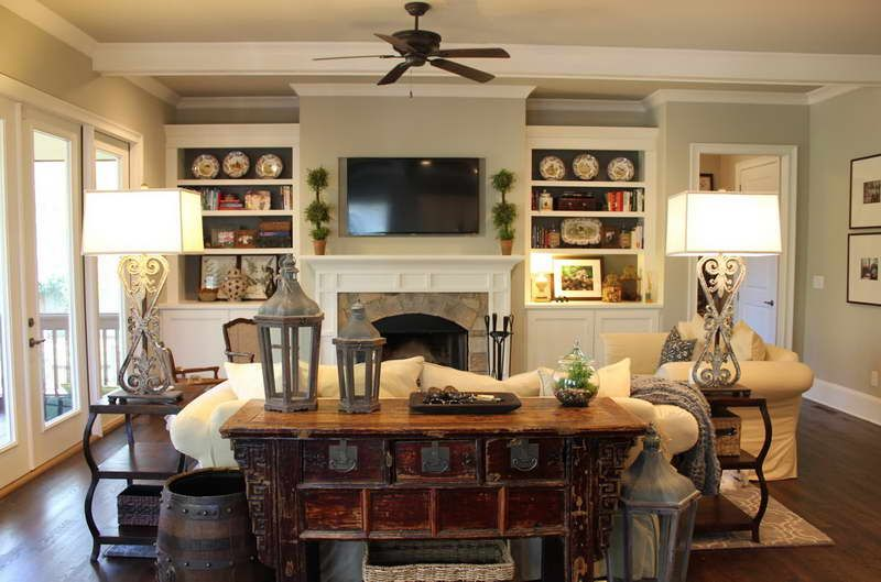 Rustic Living Room Design Ideas With Shelves Western Living Room