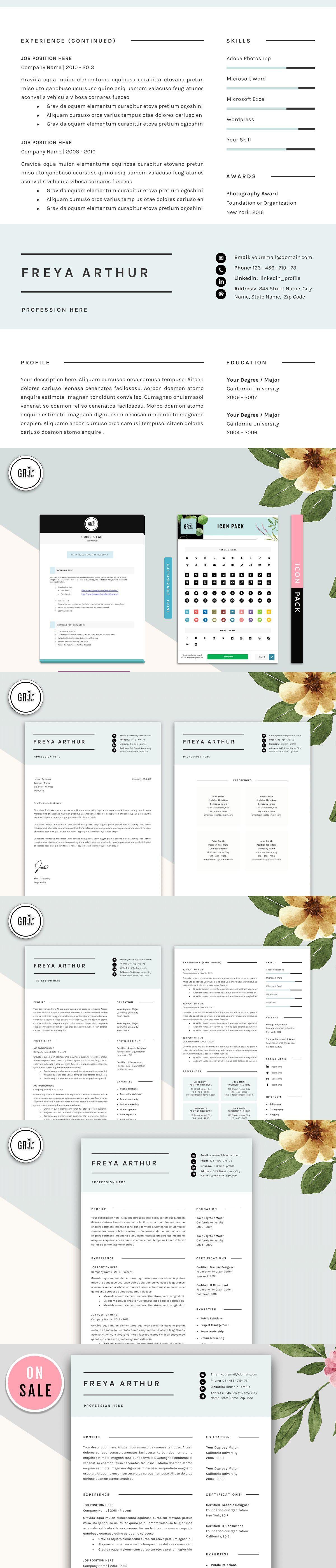 Professional CV Resume Templates Resume template word