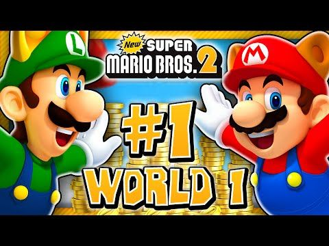 New Super Mario Bros 2 3DS   World 1 (2 Player) 100% U0026 Giveaway