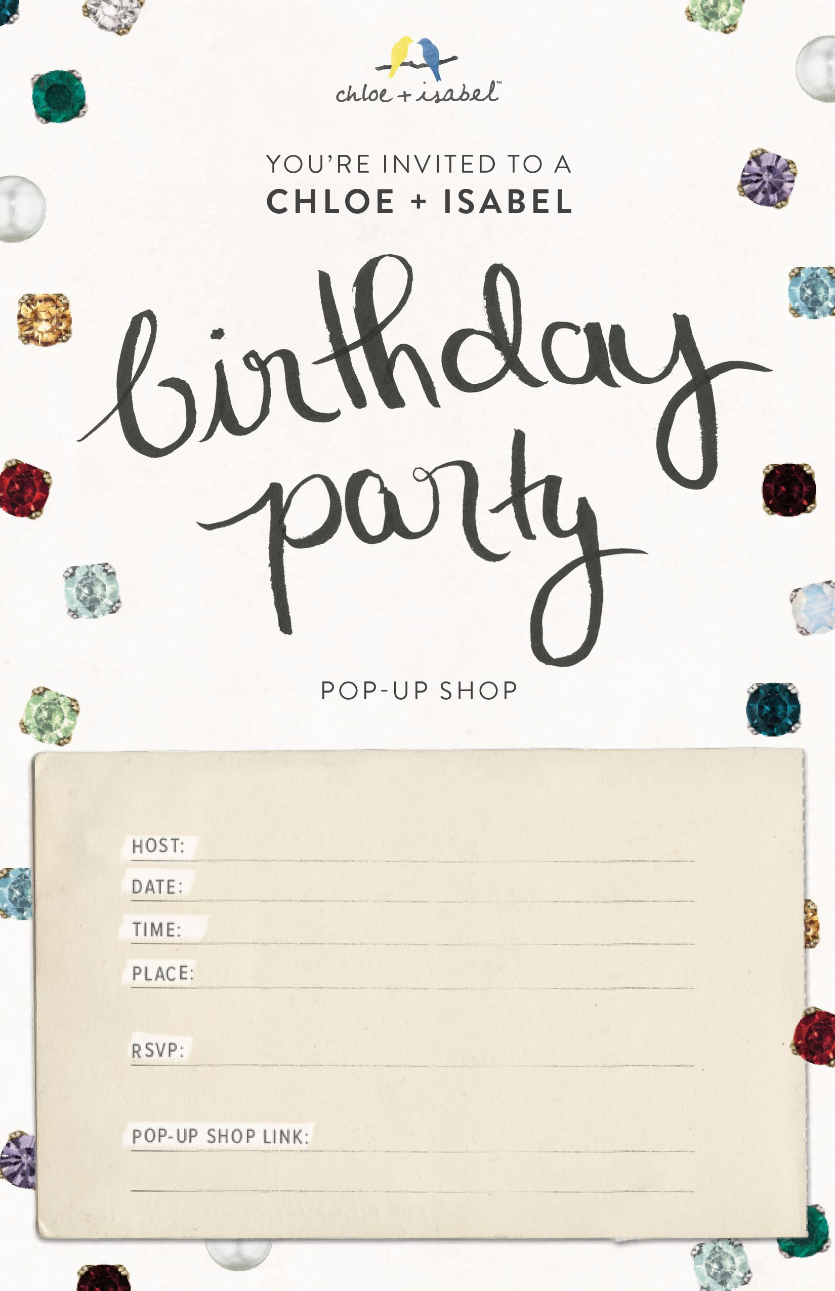 Birthday Party Pop-up Invite (Would be fun to have a jewelry pop up BDAY party in the Boston/Essex/Merrimack Valley area for your friends!) Contact me at klibanskyp@gmail.com if interested- free giveaways and fun XO
