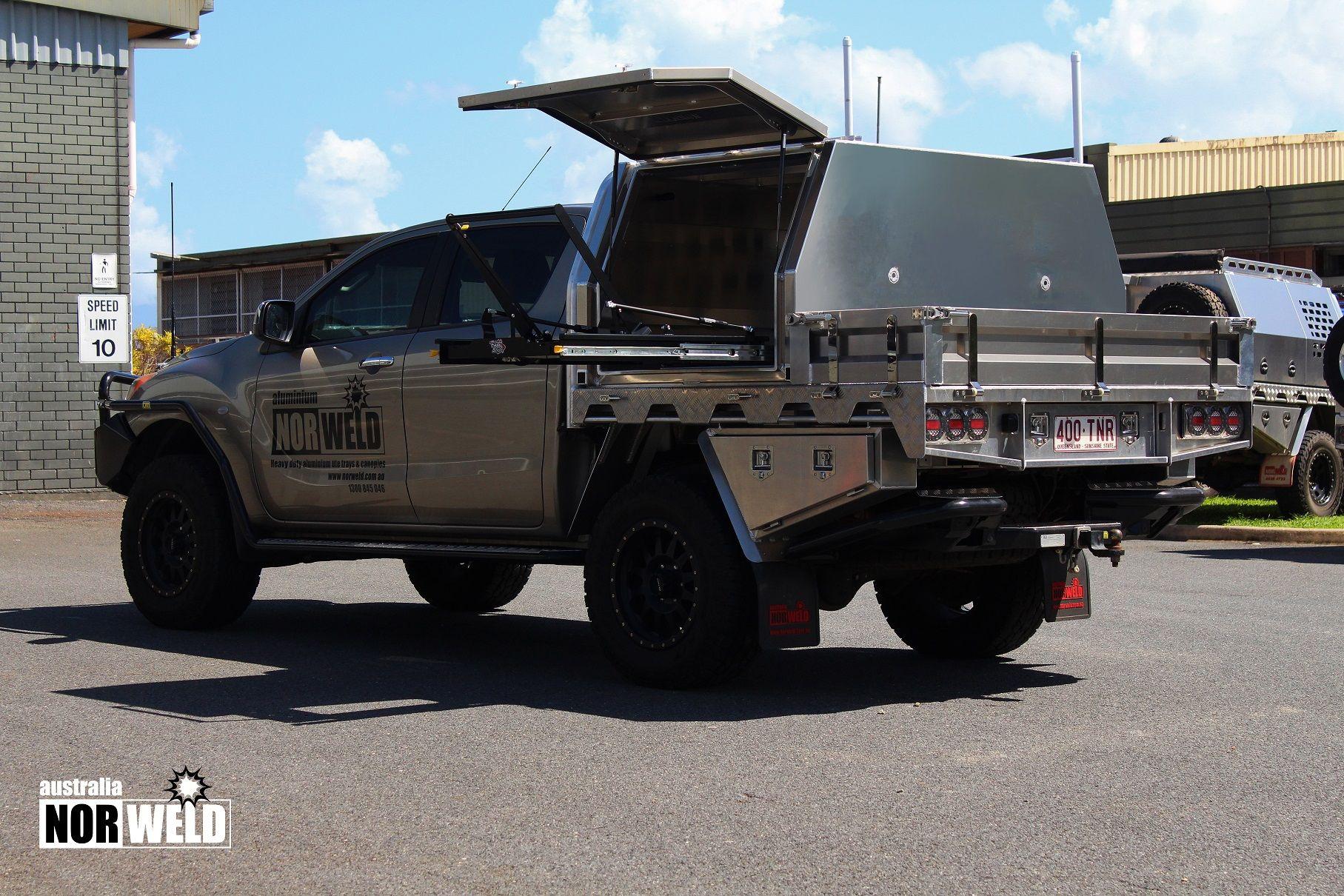 Half Canopy Pack 3 1150mm 1 Norweld Aluminium Ute Trays And