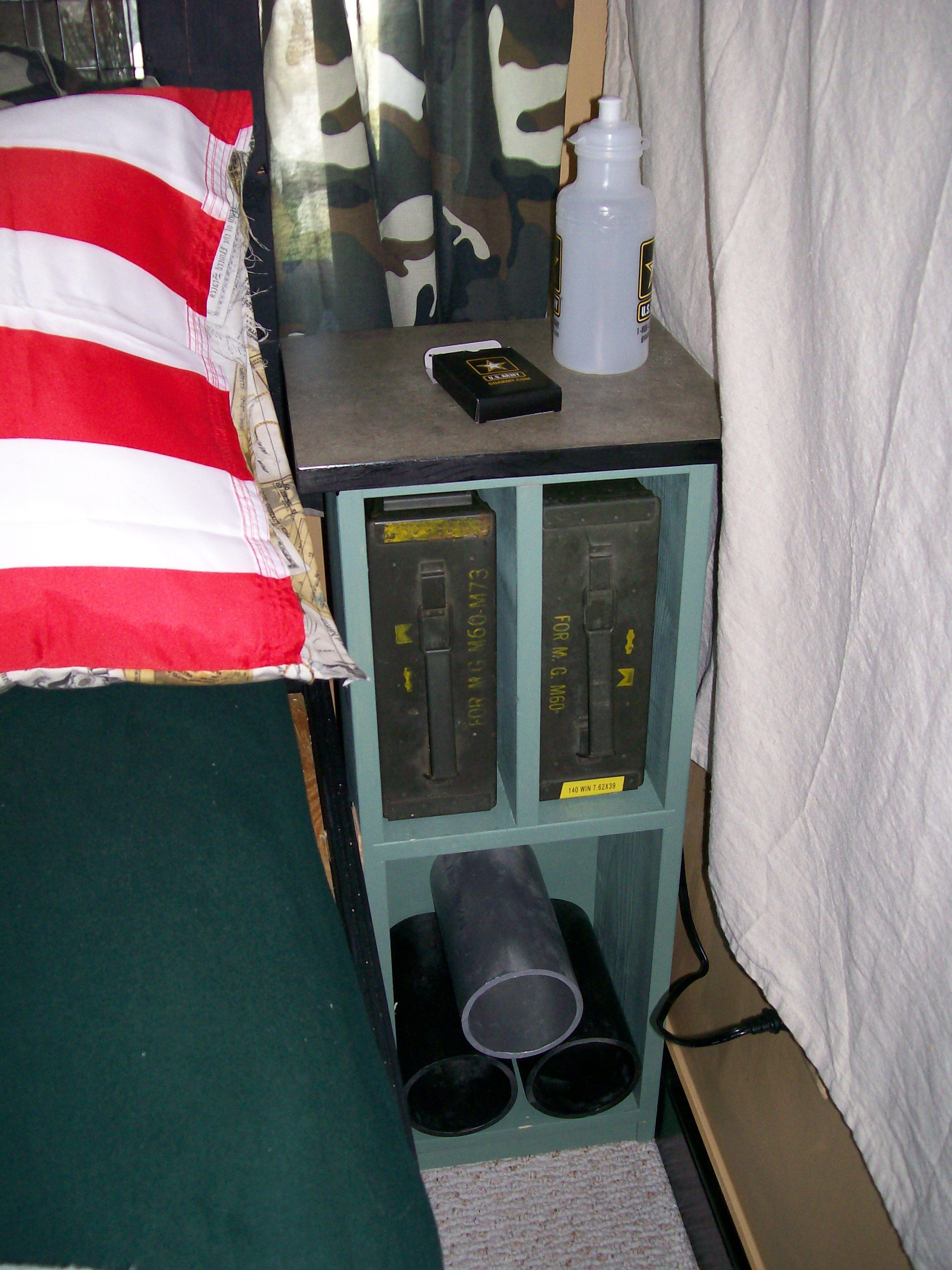 Army Room Bedside stands with ammo box storage Home