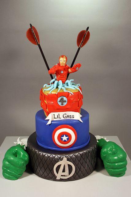 Brilliant Avenger 4Th Birthday Cake With Images Avengers Birthday Cakes Personalised Birthday Cards Xaembasilily Jamesorg