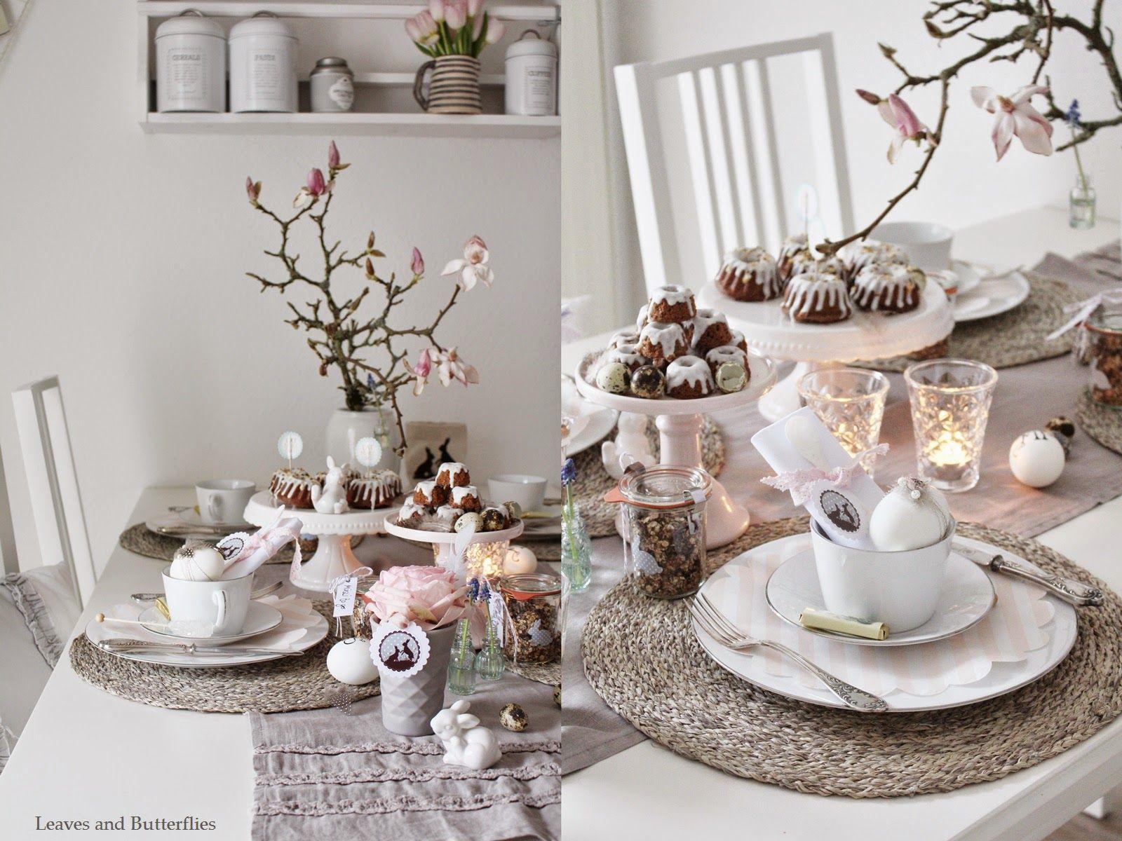 Ein gedeckter Tisch zu Ostern #gedecktertisch