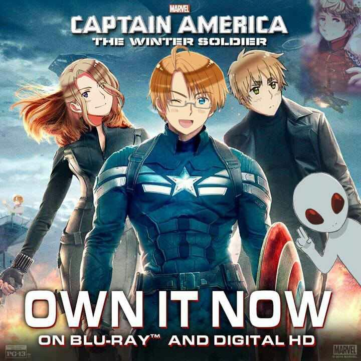 Captain America The Winter Soldier X Hetalia Capitao America