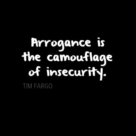Is Arrogance A Sign Of Insecurity