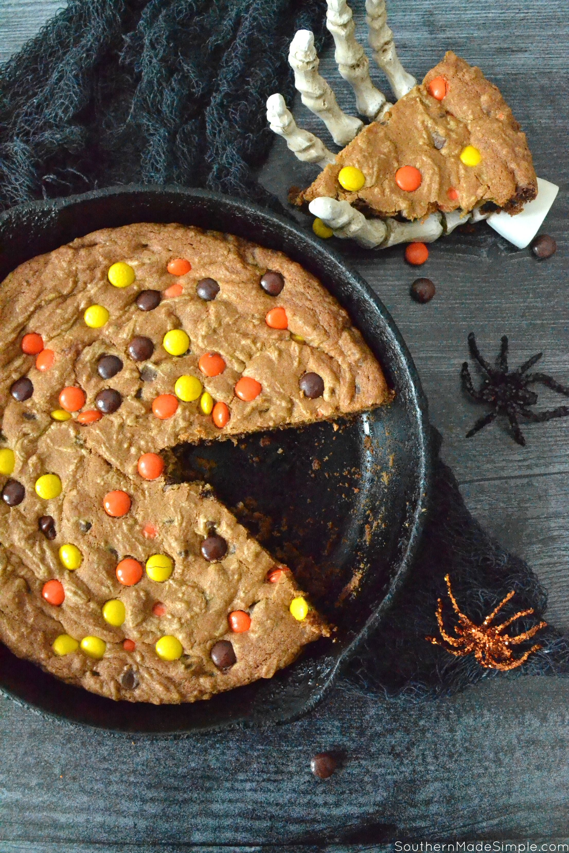 Halloween Deep Dish Skillet Cookie Recipe Easy