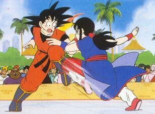 Chi Chi Vs Goku At The Tournament Goku Goku Vs Dragon Ball Z