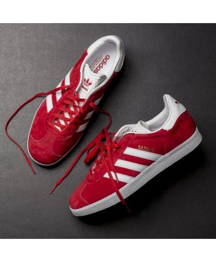 online store 91aba 05b72 Womens Adidas Gazelle Red White Trainer