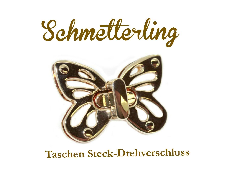 Schmetterling - Taschen Steck-Drehverschluss