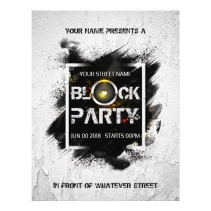 Block Party custom invitation Flyer - summer gifts season diy - invitation flyer template