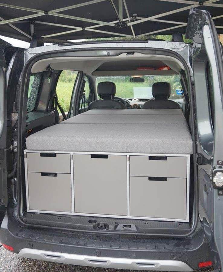 dacia dokker one camper set mit doppelbett teardrop. Black Bedroom Furniture Sets. Home Design Ideas
